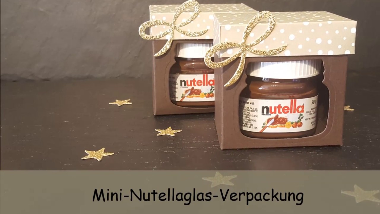 mini nuss nougat creme verpackung mit produkten von stampin up youtube. Black Bedroom Furniture Sets. Home Design Ideas