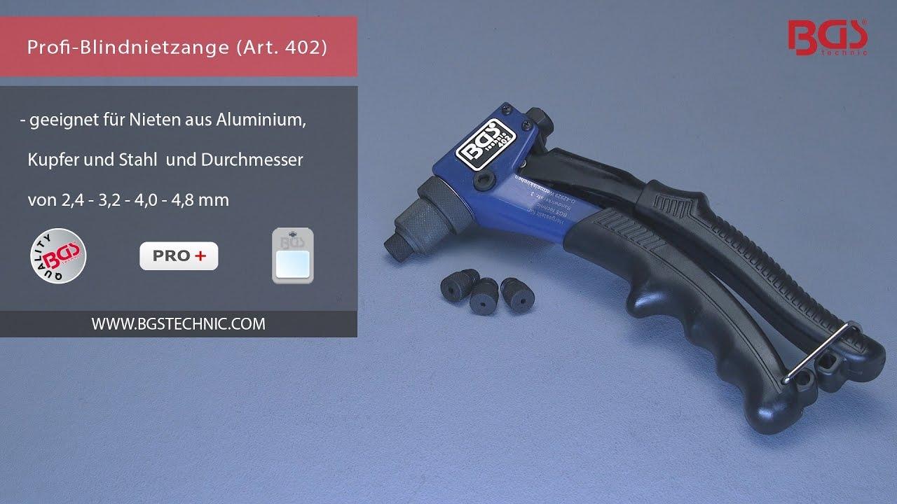 Profi-Blindnietzange für Nieten aus Aluminium Kupfer und Stahl 2,4-4,8mm
