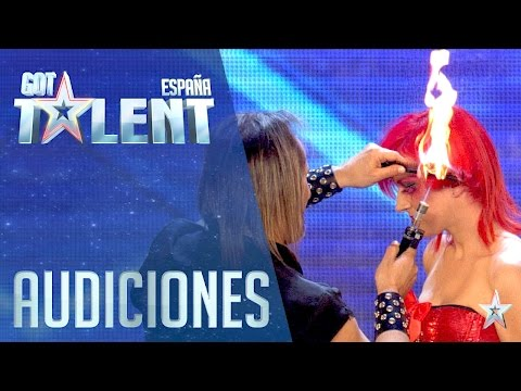 This hairdresser likes to play with fire | Auditions 4 | Spain's Got Talent 2016