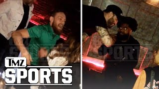 Conor McGregor Hit the Club with Ezekiel Elliott after Cowboys Game | TMZ Sports
