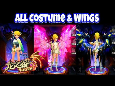 [ARCHER] Review All Costumes and Wings  Dragon Nest Awake Mobile