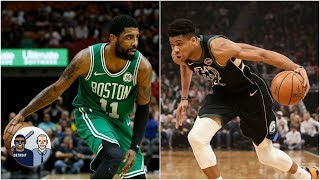 Giannis vs. Kyrie among most intriguing matchups in Bucks-Celtics series? | Jalen & Jacoby
