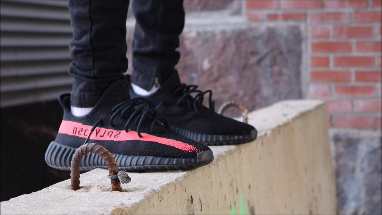 Adidas Yeezy Boost SPLY 350 V 2 Core Black Red Kanye West