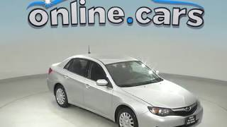 A99136DT Used 2010 Subaru Impreza Sedan Silver Test Drive, Review, For Sale