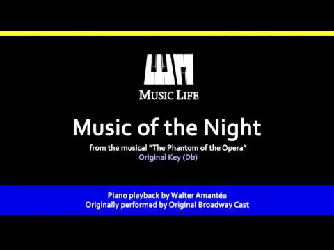 Music of the Night (Phantom of the Opera) - Piano Playback for Cover / Karaoke