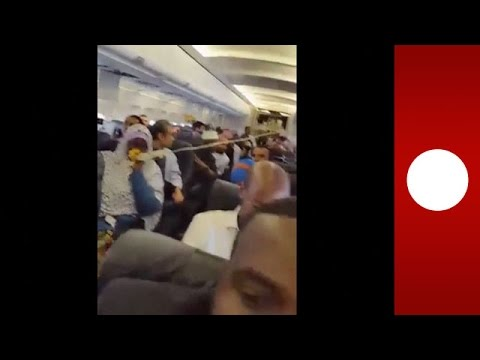 Video from inside the A321 after a suicide bomber detonated himself and ripped a hole in the cabin, killing no one (but himself)