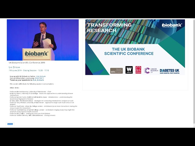 Professor Sir Rory Collins - Getting the most out of UK Biobank