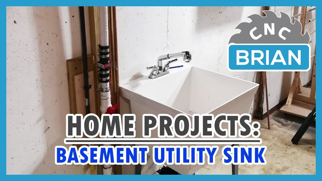 home projects how to install a basement utility laundry sink