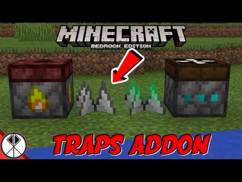Minecraft TRAPS Addon (MCPE/Xbox/Bedrock Trolls)