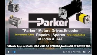 Parker Servo Motor Repair India UAE - Encoder Resolver Align Adjust Install Connect HOW