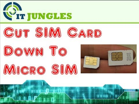 How To Cut Standard Sim Card To Micro Sim Using Scissor - Youtube