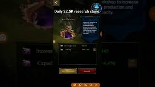 Increase the production of research stone clash of kings