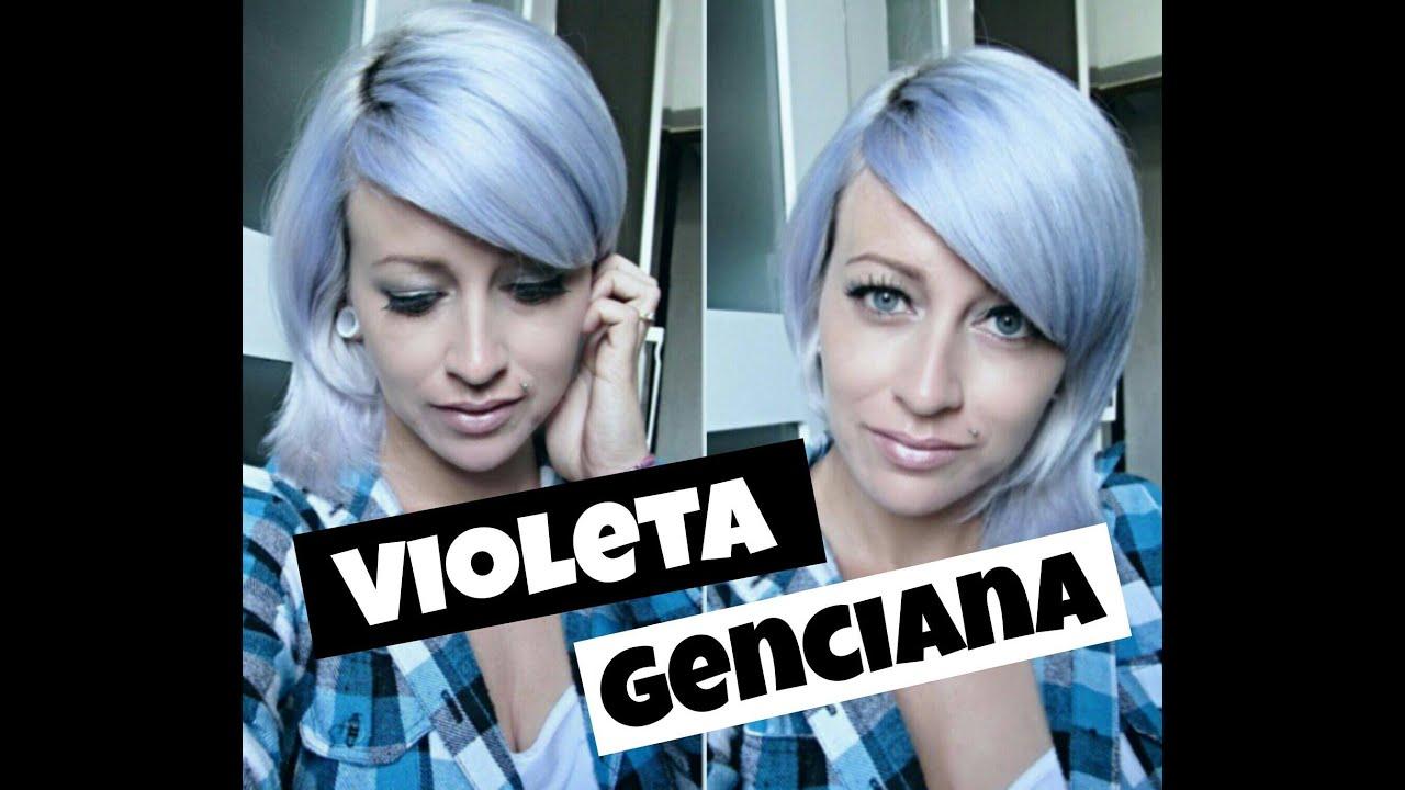 Extremamente Como platinar o cabelo em casa com VIOLETA GENCIANA || Meu Diário  ON61