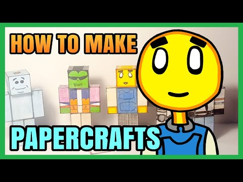 How To Make Papercraft Figures Tutorial!