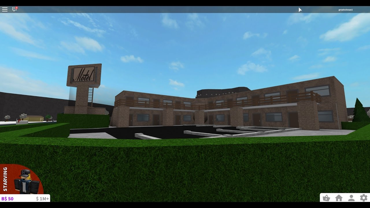 Roblox  Bloxburg Motel Speedbuild  Youtube