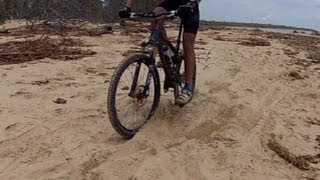 How to mountain bike through sand in 3 easy steps
