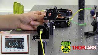 Align Fiber Collimators to Create Free Space Between Single Mode Fibers