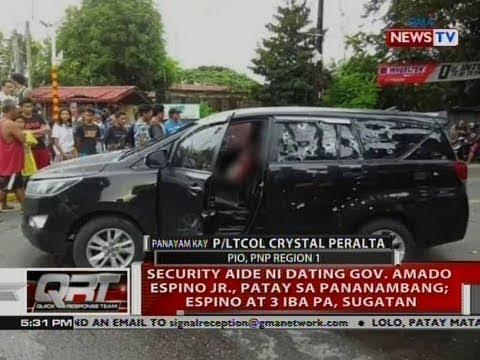 QRT: Security aide ni dating Gov. Amado Espino Jr., patay sa pananambang