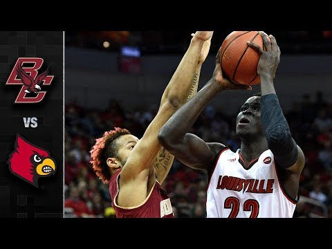 Boston College vs. Louisville Basketball Highlights (2017-18)