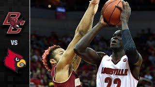 Boston College vs. Louisville Basketball Highlights (2017-18)