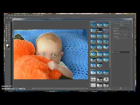 Using Filter and Quick Selection tool in Photosop 2018