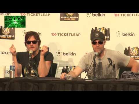 2012 Austin Comic Con Walking Dead Panel with Norman Reedus and Michael Rooker