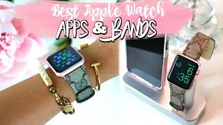 Gambar cover BEST APPLE WATCH APPS AND BANDS! MOST PRODUCTIVE APPS FOR YOUR WATCH.