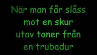 Magnus Uggla - Trubaduren with Lyrics,Text.wmv