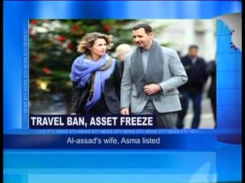Travel Ban, Asset Freeze-Al asads wife, Asma Listed.flv