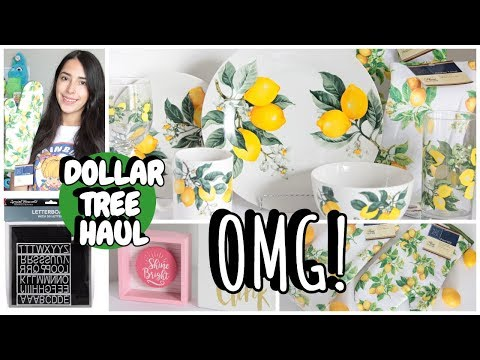 DOLLAR TREE HAUL MAY 2019 LEMON PLATES ARE BACK NEW FINDS