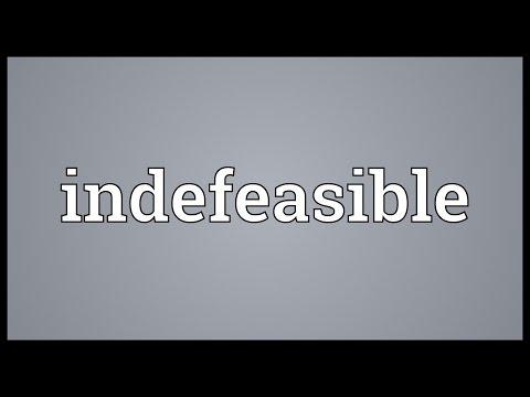 Header of indefeasible