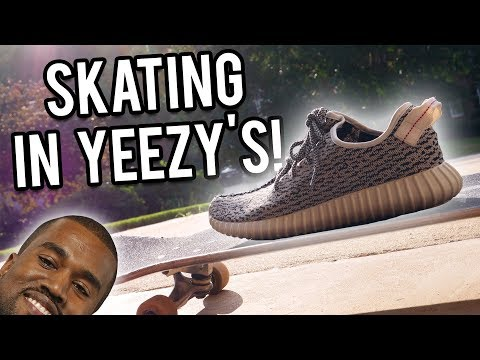SKATING IN YEEZYS! | Yeezy Boost 350 Turtle Doves