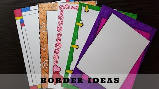 Easy | Border designs on paper | border designs | project work designs | borders for projects