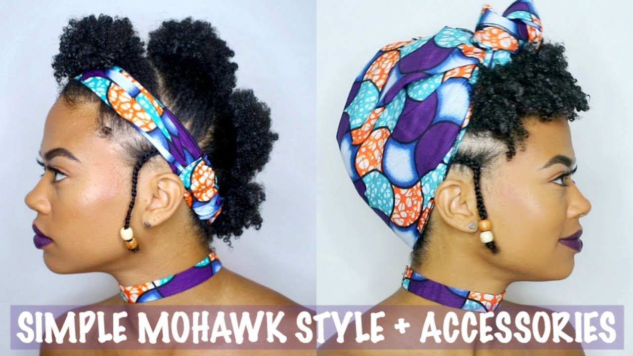 Simple Mohawk Style For Short Natural Hair Accessories Type 4 Youtube