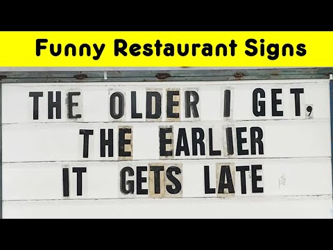 Funniest Restaurant's Signs That Bring Back Customers