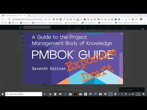 PMI PMBOK 7th Edition Exposure Draft Opened January 15, 2020 (CLOSED)