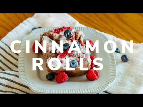 Vegan CBD Raspberry Blueberry Cinnamon Rolls
