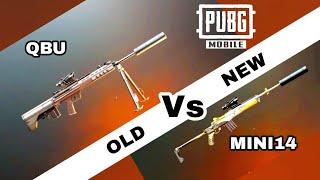New gun QBU vs Old gun Mini 14 pubg mobile | which gun is best | pubg mobile Hindi