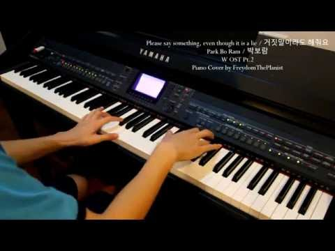 Please Say Something, Even Though It Is A Lie/거짓말이라도 해줘요 - W OST (Piano Cover/Free Sheets)