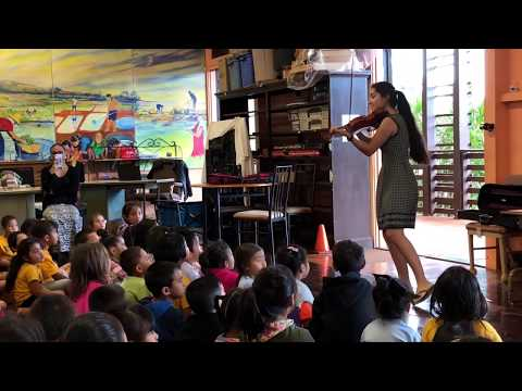 "Playing ""How Far I'll Go"" from Moana for Kindergarteners at Eleele Elementary School"