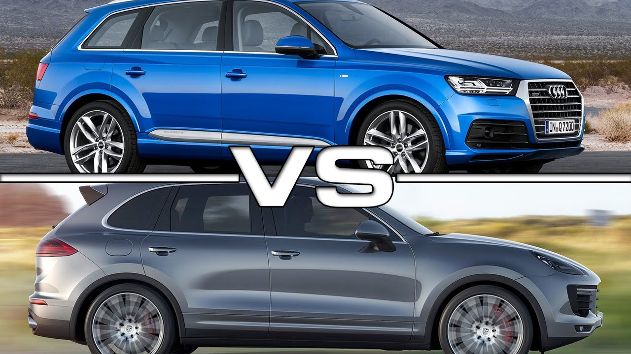 2016 audi q7 vs 2015 porsche cayenne youtube. Black Bedroom Furniture Sets. Home Design Ideas