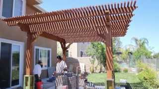 Free Standing Wood Lattice Patio/pergola
