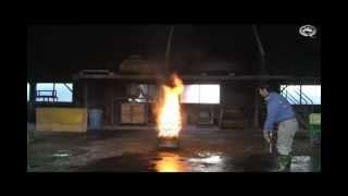 初田製作所*ピュアウォーター消火器 放射実験