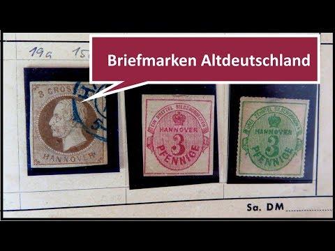 Briefmarken wertvoll? Briefmarken Schatzsuche in einem Auswahlheft Altdeutschland from YouTube · Duration:  18 minutes 11 seconds