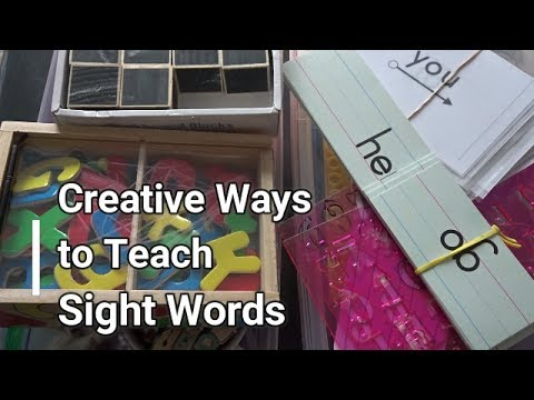 Creative Ways to Teach Sight Words