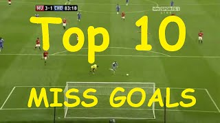 Top 10 funny worst open goal misses in football