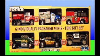 Top 6 TONKA Toys 2013 inc GARBAGE TRUCK, AMBULANCE, SHERIFF PARK RANGER AND FIRE ENGINE