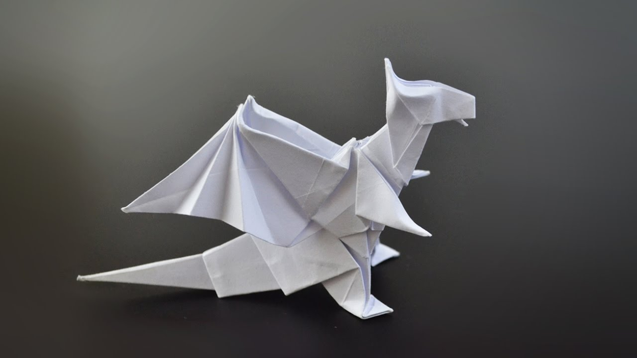 How to make a paper dragon easy method