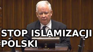 Jarosław Kaczyński MOCNE przemówienie o muzułmańskich imigrantach SEJM 16 września 2015 r 16.09.2015