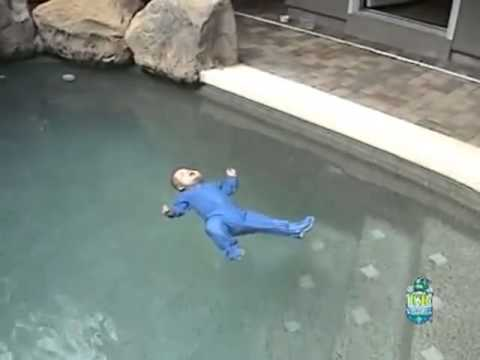 Smart Baby Accidentally Falls In Swimming Pool Youtube